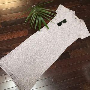 LOFT Striped T-shirt Dress